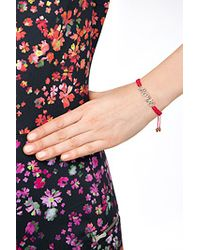 Juicy Couture | Pink Love Friendship Bracelet - Red | Lyst