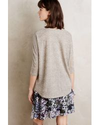 INTROPIA | Gray Shimmered Miri Tee | Lyst