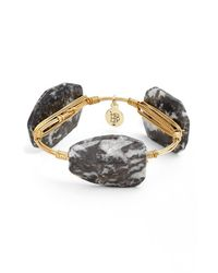 Bourbon and Boweties | Black Medium Stone Bracelet | Lyst