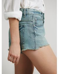 Free People - Blue Womens Buttonfront Cutoffs - Lyst