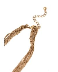 Forever 21 | Metallic Layered Chain Teardrop Necklace | Lyst