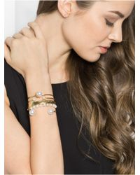 BaubleBar Metallic One-sided Pearl Cuff