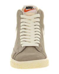 Nike Gray Blazer Hi Suede Vintage for men