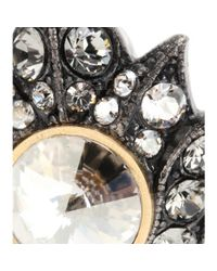 Lanvin Metallic Crystal Embellished Earrings