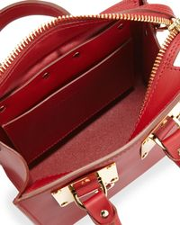 Sophie Hulme - Red Small Leather Box Tote Bag - Lyst