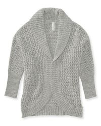 Aéropostale | Gray Textured Cocoon Cardigan | Lyst