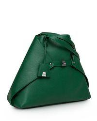 Akris Ai Small Leather Tote Bag Green