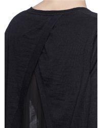 Sandro Blue 'sybil' Pleat Chiffon Underlay Sweater