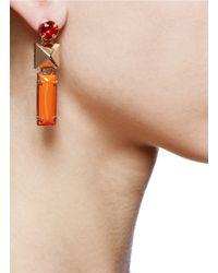 Valentino - Orange Stud Strass Earrings - Lyst