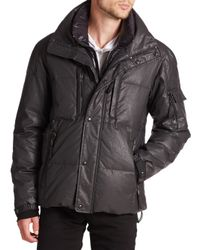 Sam. | Black Thompson Coated Down Puffer Jacket for Men | Lyst