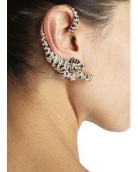 Roberto Cavalli | Metallic Gold Plated Swarovski Crystal Tiger Ear Cuffs | Lyst