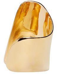 Maiyet | Metallic Gold Large Asymmetric Cuff | Lyst