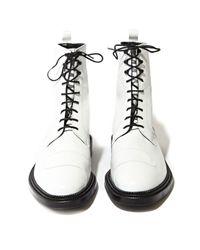 Yang Li White Mens Lace Up Boots for men