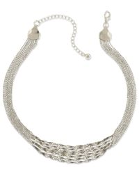 2028 | Metallic Silver-Tone Twisted Multi-Chain Strand Necklace | Lyst