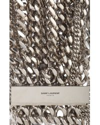 Saint Laurent - Metallic Twisted Gourmette Collar Necklace - Lyst