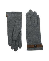 Lauren by Ralph Lauren | Gray Logo Cube Belted Touch Glove | Lyst