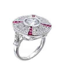 Kenneth Jay Lane | Pink Deco Wheel Ring | Lyst