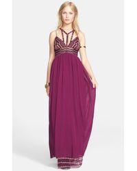 Free People Purple 'Sacred Geometry' Maxi Dress