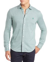 Polo Ralph Lauren | Green Cotton Sportshirt for Men | Lyst