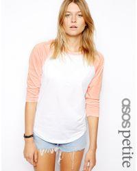 ASOS - Pink Colour Block Baseball Top - Lyst