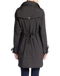 Cole Haan | Black Solid Zip Front Anorak Jacket | Lyst