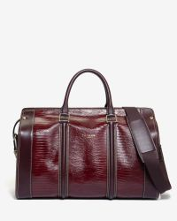 Ted Baker | Purple Exotic Leather Holdall for Men | Lyst