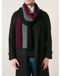 DSquared² - Black Striped Knit Scarf for Men - Lyst