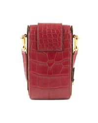 Burberry - Red Oblong Belt Bag In Alizarin Crimson Alligator Skin - Lyst