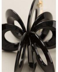 Marni - Black Flower Earrings - Lyst
