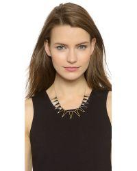 House of Harlow 1960 - Metallic Enameled Echelon Collar Necklace - Black/gold - Lyst