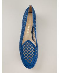 Aperlai - Blue 'gatsby' Cut Out Slippers - Lyst