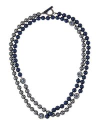 St. John | Gray Signature Two-tone Pearly Necklace | Lyst