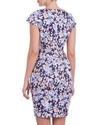 Sugarhill Multicolor Georgie Pleat Tulip Dress