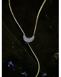 Free People - Metallic Diamond Crescent Lariat - Lyst