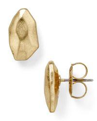 Robert Lee Morris - Metallic Hammered Stud Earrings - Lyst