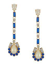 kate spade new york Blue Symphony Sparkle Drop Earrings