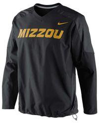 Nike - Black Men'S Missouri Tigers Dri-Fit Pullover Wind Jacket for Men - Lyst
