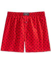 Polo Ralph Lauren | Red Print Boxers for Men | Lyst