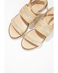 Forever 21 - Natural Beaded Flatform Sandals - Lyst