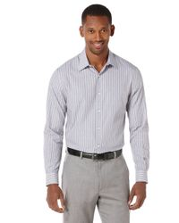 Perry Ellis | Blue End-on-end Stripe Sportshirt for Men | Lyst