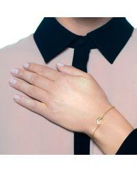 Lulu Frost - Metallic Code 14Kt Moon Bracelet - Lyst