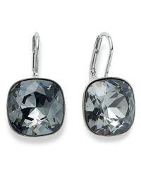 Swarovski | Metallic Silver-Tone Crystal Silvernight Drop Earrings | Lyst