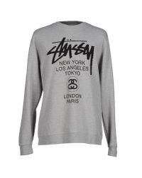 Stussy | Gray Sweatshirt for Men | Lyst