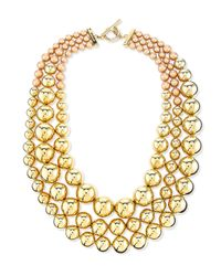 St. John | Metallic Pearly & Metal Bead Multi-strand Necklace | Lyst