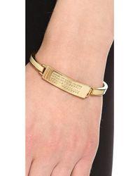 Marc By Marc Jacobs Metallic Standard Supply Fine Enamel Bangle Bracelet Creme