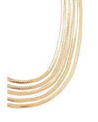 Forever 21 Metallic Layered Herringbone Necklace