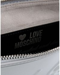 Love Moschino - Gray Clutch - Lyst