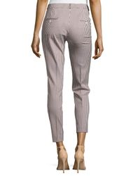 Michael Kors - White Samantha Check-print Skinny Pants - Lyst