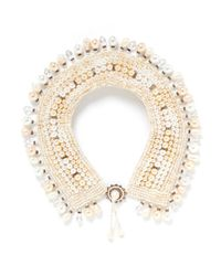 Erickson Beamon | White Lady And The Tramp' Glass Pearl Crystal Necklace | Lyst