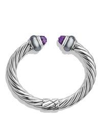 David Yurman | Metallic Cable Classics Bracelet With Amethyst & Hematine | Lyst